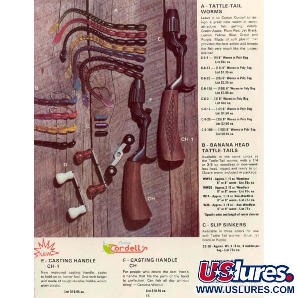 Banana Head Tattle-Tail Jig + Tattle-Tail Worm (винтаж, 1970-е)