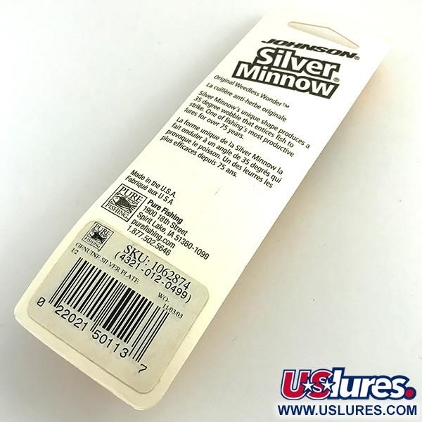 Незацепляйка Johnson Silver Minnow, покрытие серебром, с лепестком
