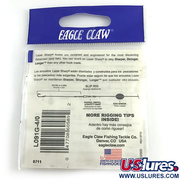 Офсетный крючок Eagle claw №4/0 джиговый