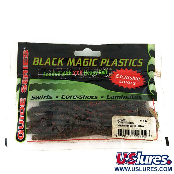 Black Magick Plastics Finesse Worm, силикон, 14 штук